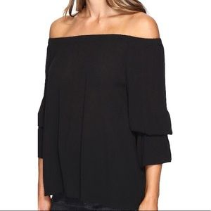 SANCTUARY Off The Shoulder Black Top New!